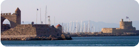 Picture of Mandraki Harbour, Rhodes
